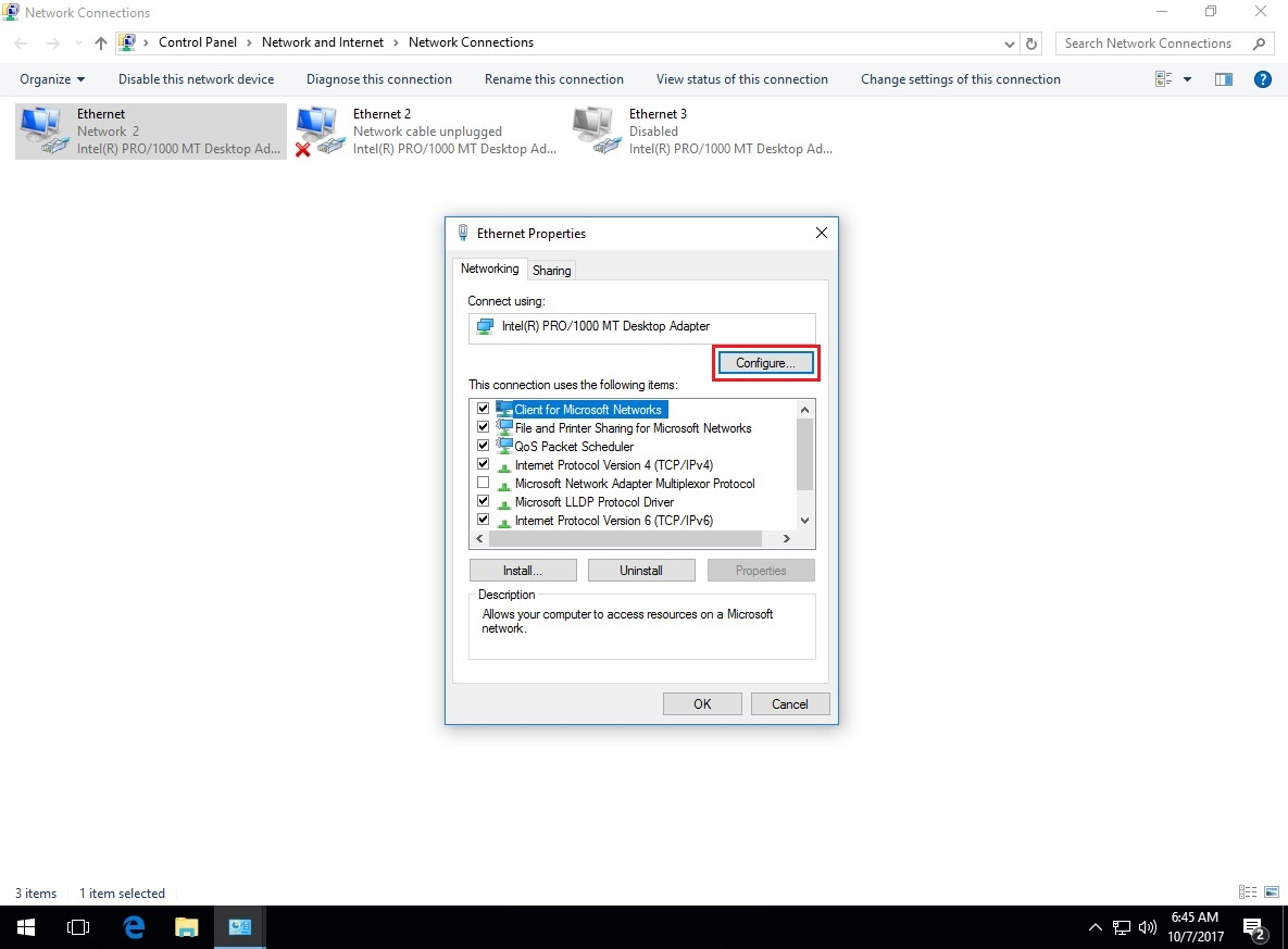 Intel r network connections drivers windows 7