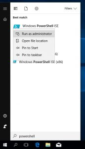Windows 10 Search PowerShell